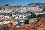Auch im Winter kann der Besuch der Coyote Buttes beeindruckend sein.