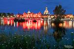 Die Night of Light Aktion in Dresden - die Brühlsche Terrasse tauchte für ein paar Stunden in ein rotes Licht