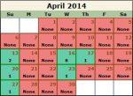 Wave Permit Kalender für den April 2014