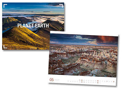 Planet Earth Kalender von Ackermann 2020