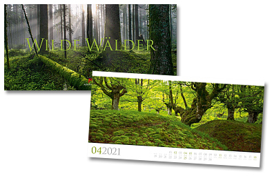 Wilde Waelder Kalender von Ackermann 2020