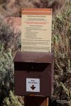 So sahen früher die Self Service Pay Stationen in der Paria Canyon Vermilion Cliffs Wilderness aus.