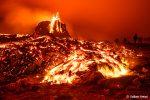 Nicht zu toppen war der isländische Vulkan natürlich nachts!